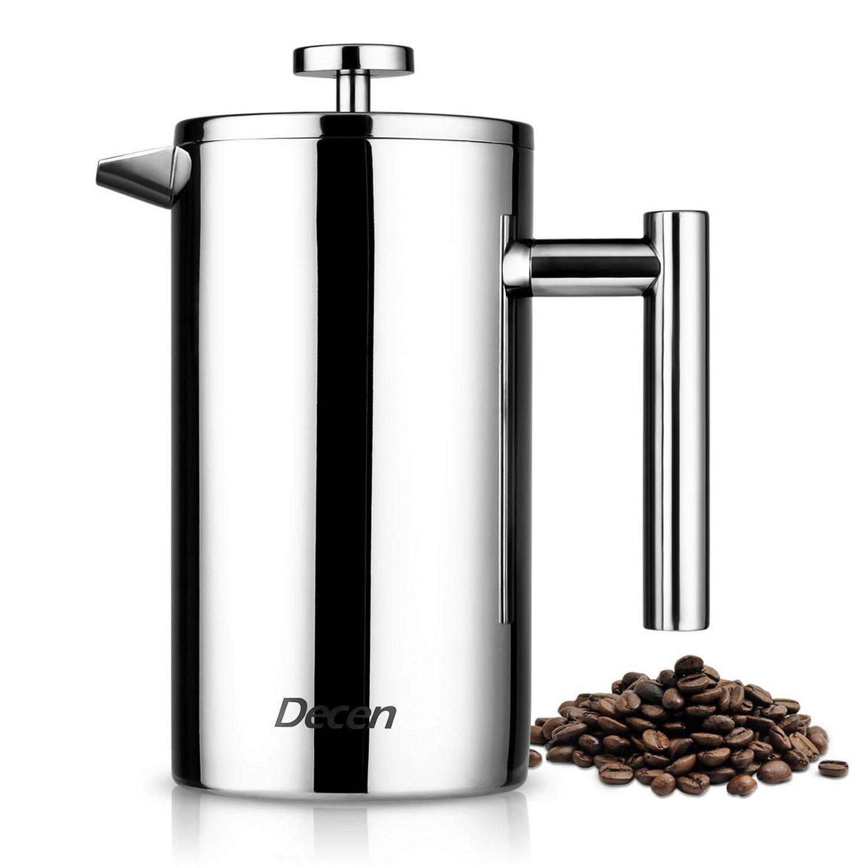 decen french press coffee maker best price review. Black Bedroom Furniture Sets. Home Design Ideas
