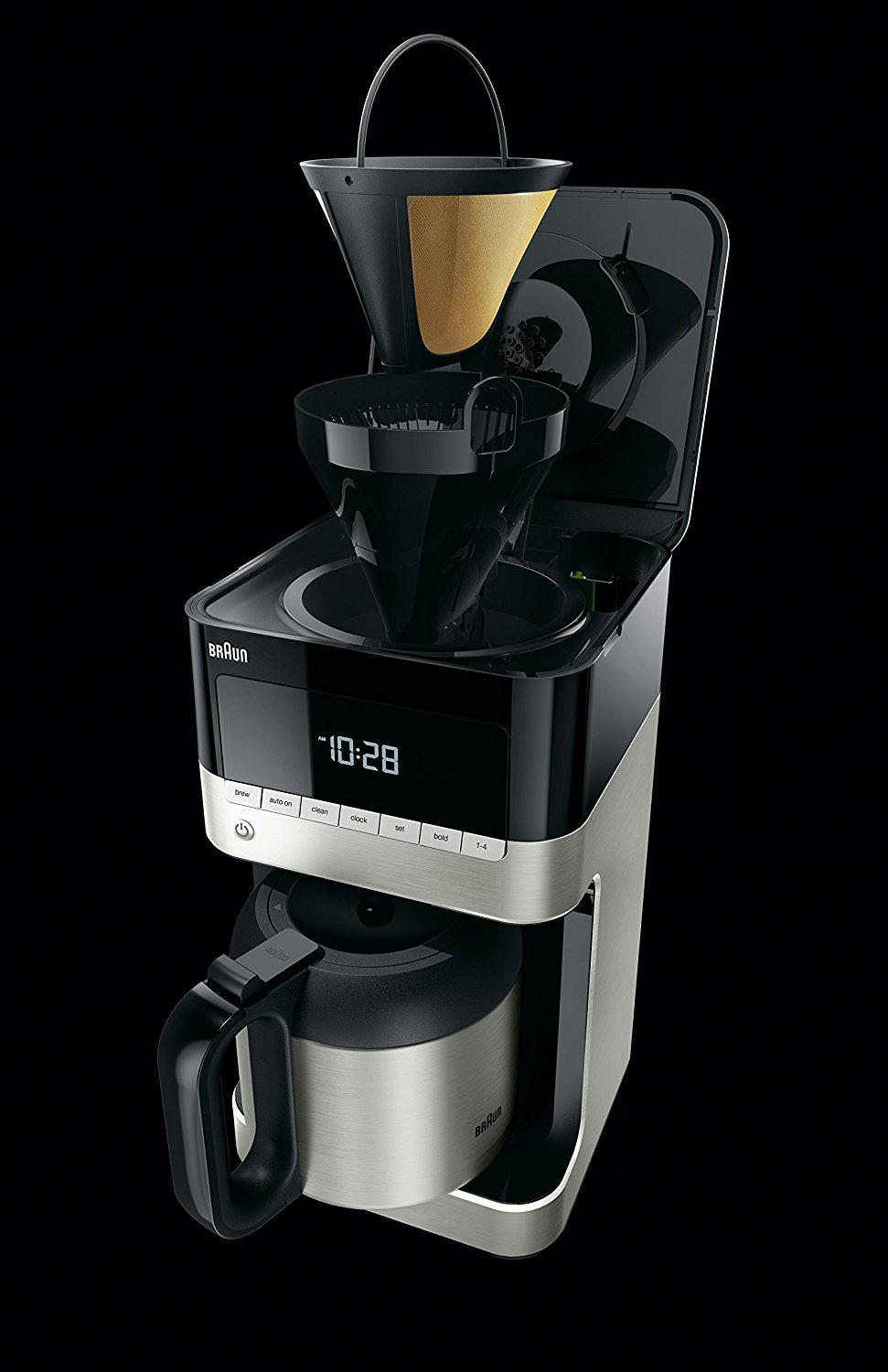 Braun Drip Coffee Maker : Braun KF7155BK BrewSense Thermal Drip Coffee Maker Best Price - Braun KF7155BK BrewSense Thermal ...