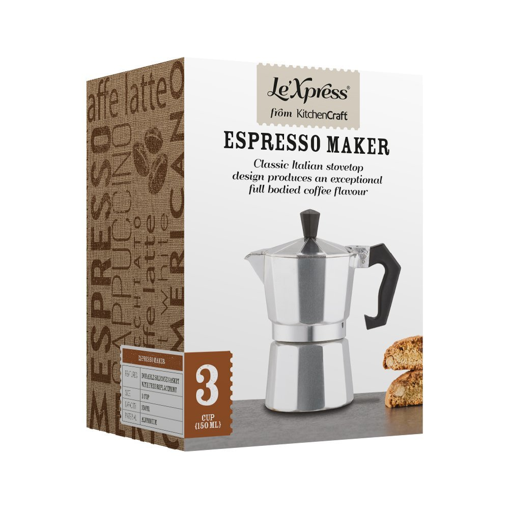 How To Use Le Xpress Coffee Maker : Le xpress Italian Style Three Cup Espresso Coffee Maker Best Price - Le xpress Italian Style ...