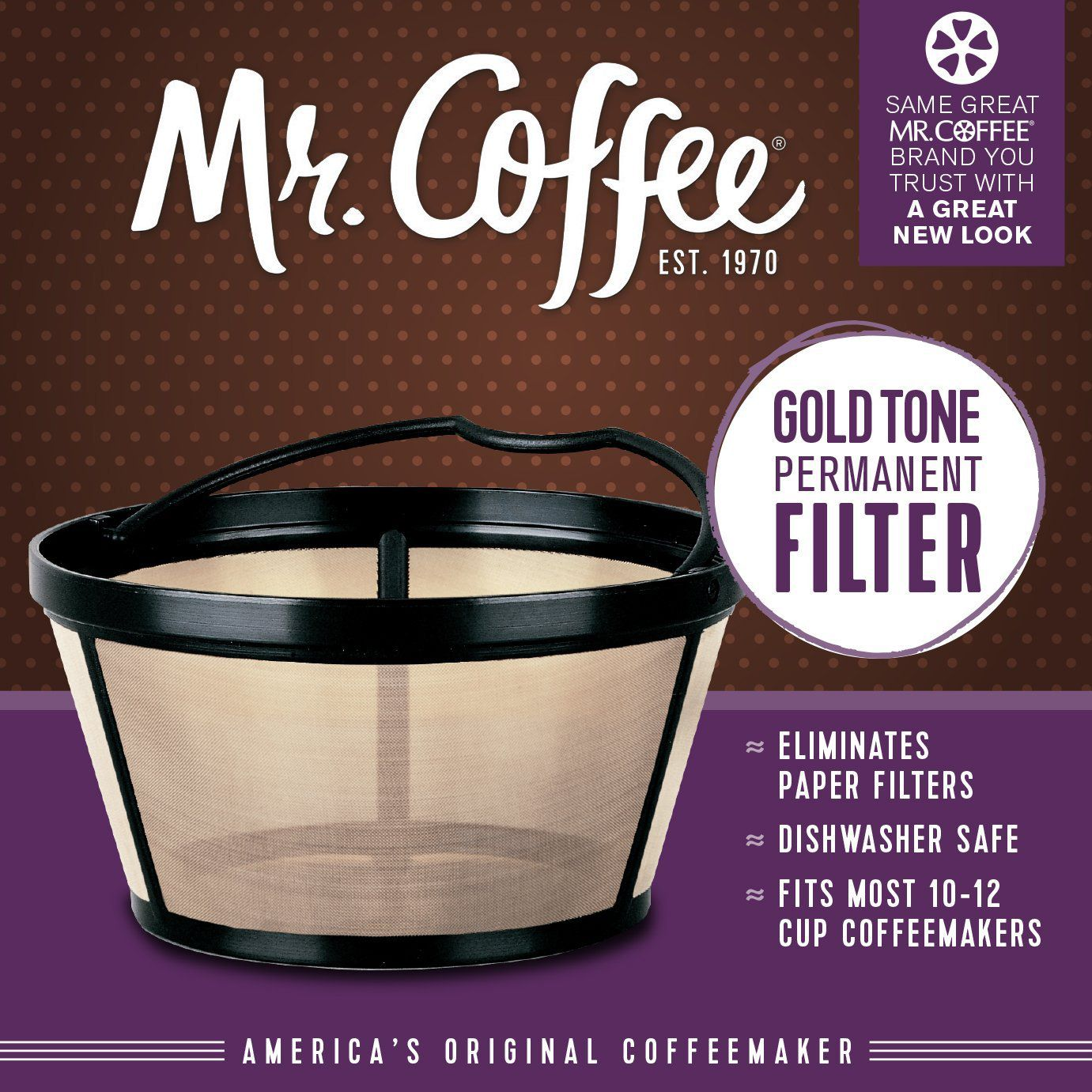 Mr. Coffee Basket-Style Gold Tone Permanent Filter SALE Coffee Accessories Shop | BuyMoreCoffee.com