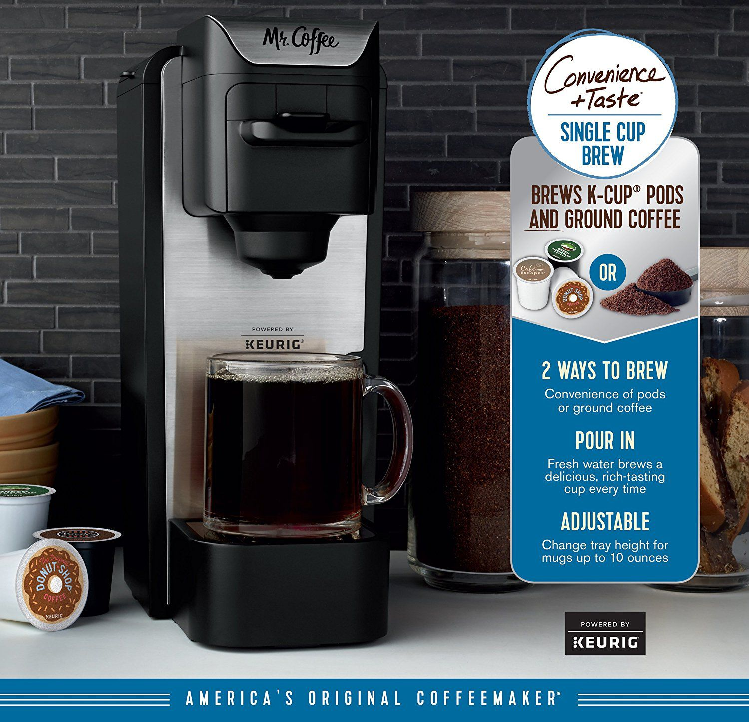 Mr. Coffee K-Cup Brewing System with Reusable Grounds ...