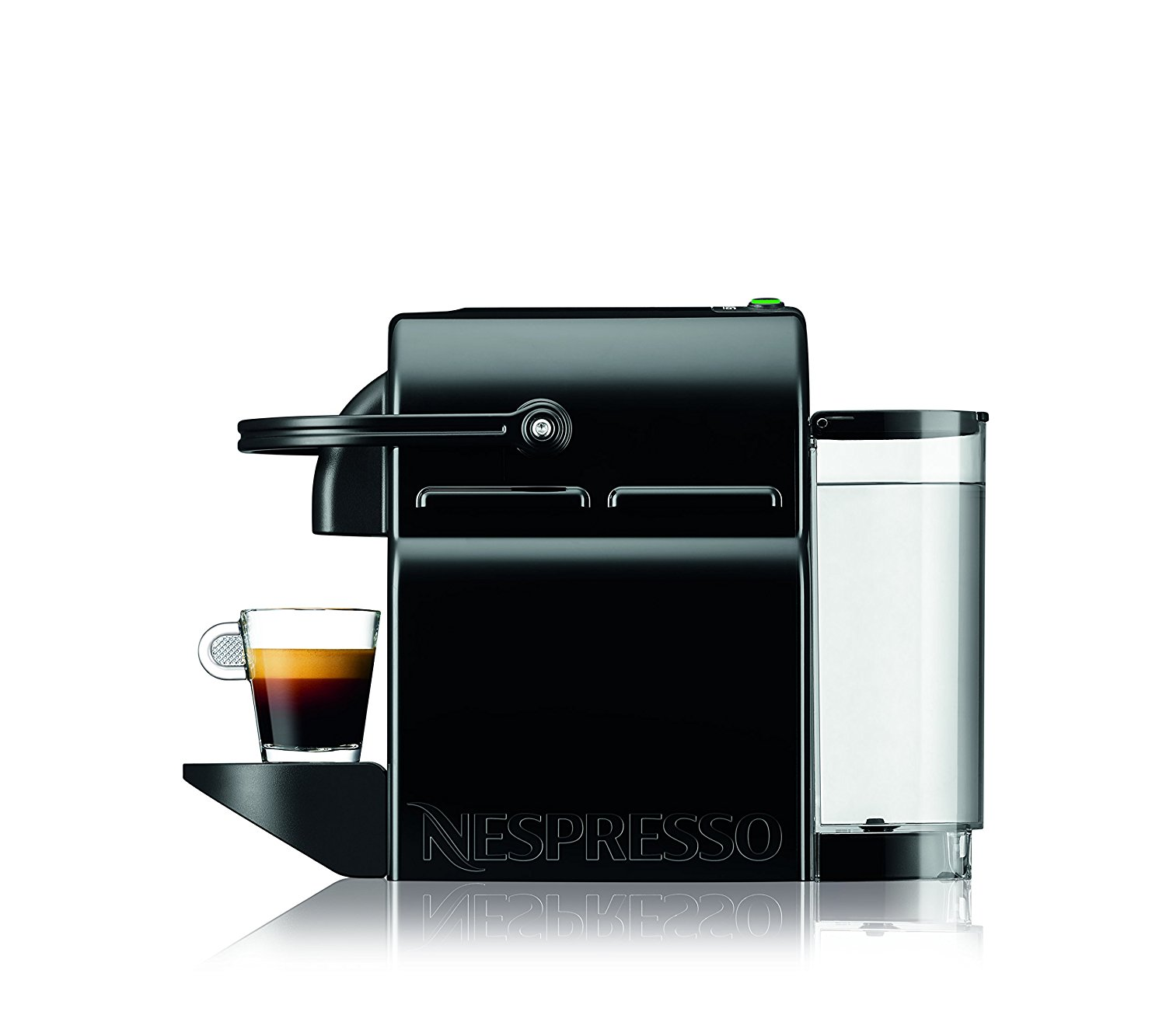 nespresso inissia espresso machine by de 39 longhi black best price review. Black Bedroom Furniture Sets. Home Design Ideas