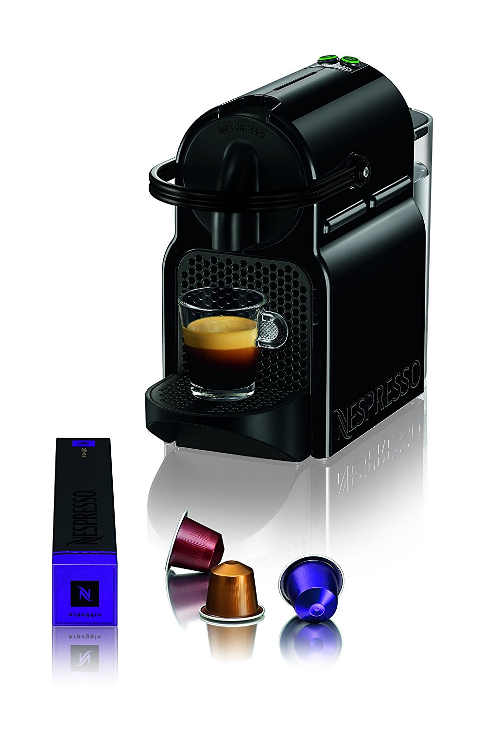 nespresso inissia espresso machine by de 39 longhi black best. Black Bedroom Furniture Sets. Home Design Ideas