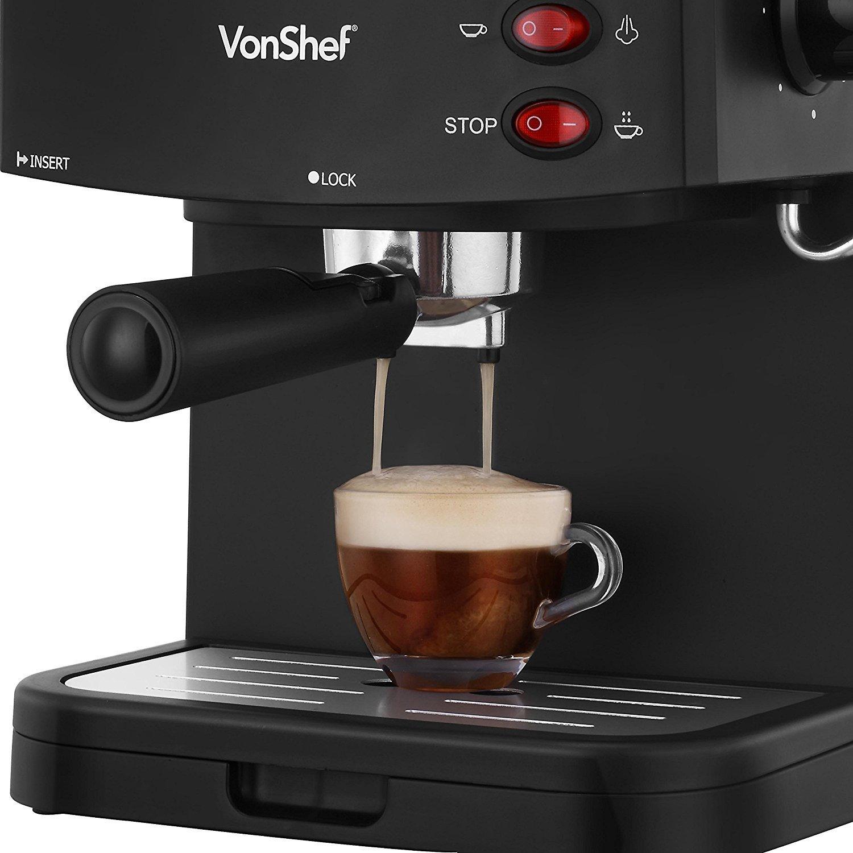Vonshef 15 Bar Pump Espresso Coffee Maker Machine Best