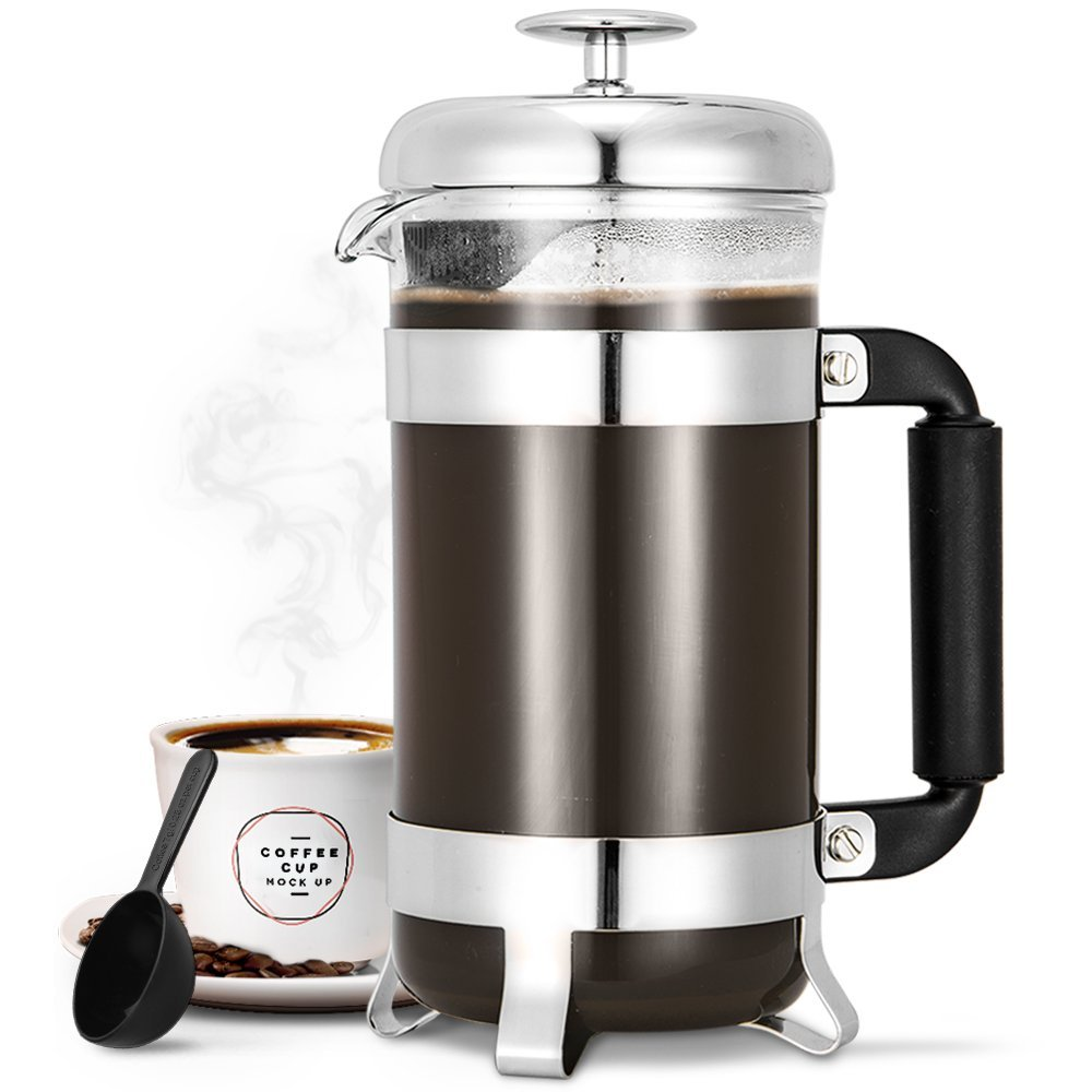 french press coffee makers 8 cup heat resistant best price review. Black Bedroom Furniture Sets. Home Design Ideas