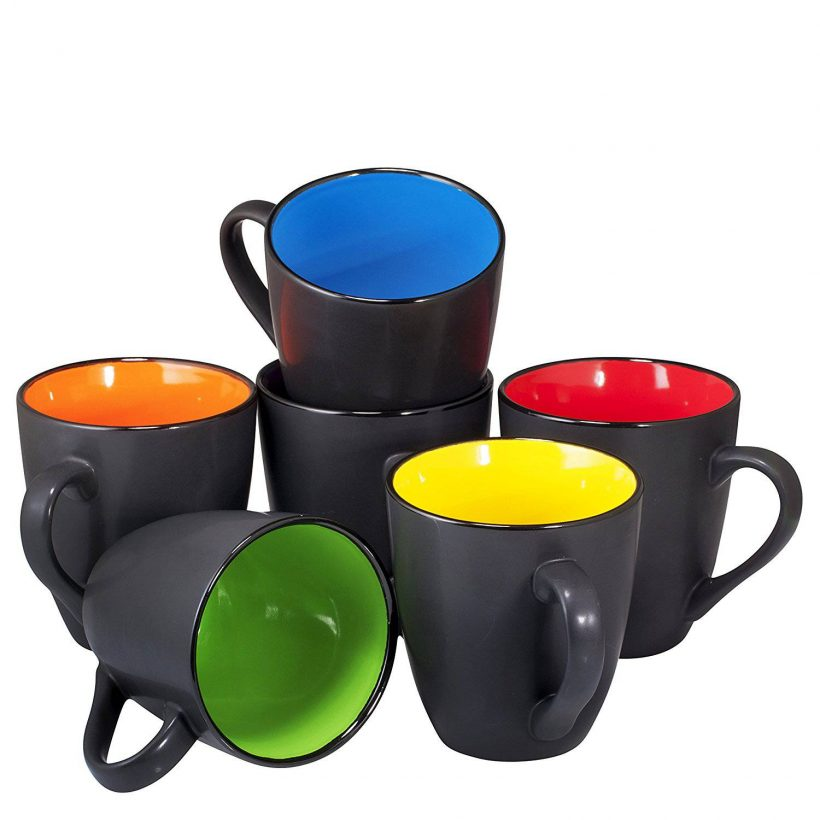 Coffee Mug Set Set Of 6 Large Sized 16 Ounce