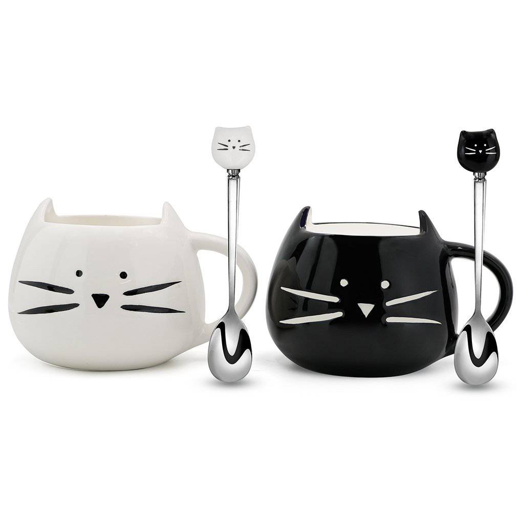 Koolkatkoo Cute Cat Ceramic Mugs And Spoons Best Price Review