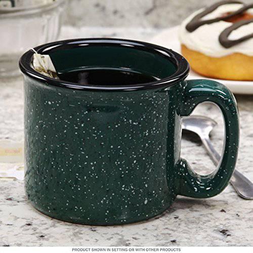 Santa Fe Ceramic Campfire Coffee Mug Fleck Forest Green