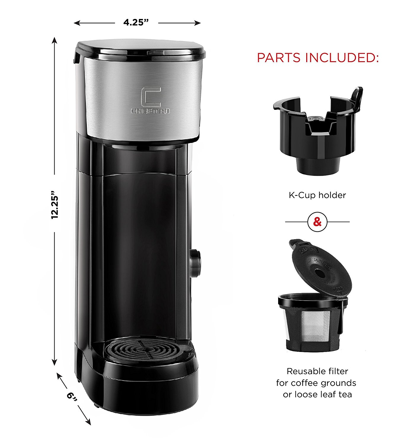 Chefman Pod Coffee Maker K-Cup InstaBrew Brewer Best Price - Chefman Pod Coffee Maker K-Cup ...
