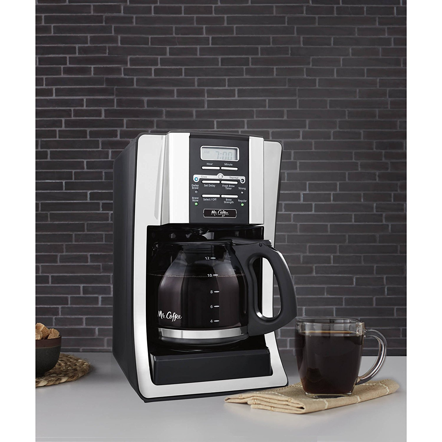 Mr. Coffee Brewing Coffee Maker (12-Cup Programmable)