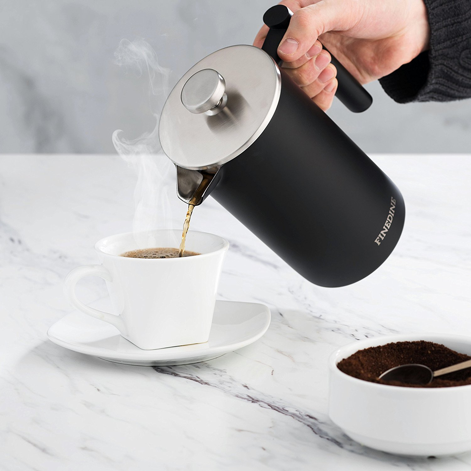 Premium 18 8 Stainless Steel French Press Coffee Maker