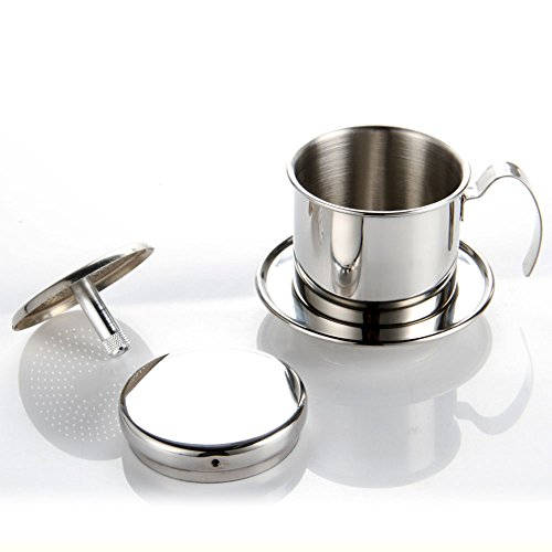 Coffee Maker Pot Stainless Steel Vietnamese Coffee Drip Reviews Coffee And Tea Coffee Tools Coffee Accessories Buymorecoffee Com