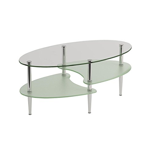 Walker edison glass oval coffee table best price review for Glass tea table price