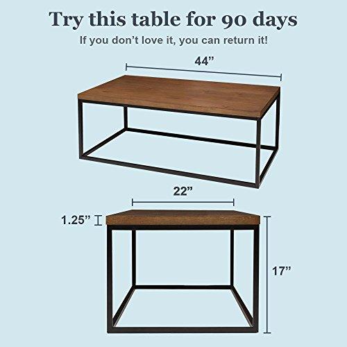 Solid Wood Coffee Table U2013 Modern Industrial ...