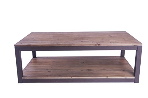 Care Royal Rustic Vintage Solid Wood And Metal 43 3 Coffee Table