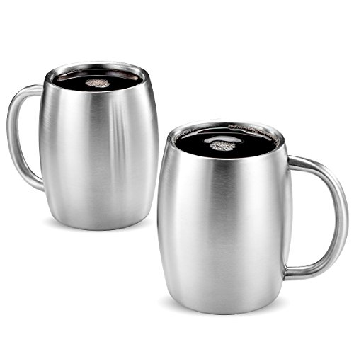 Finedine Premium Grade Stainless Steel Coffee Mugs