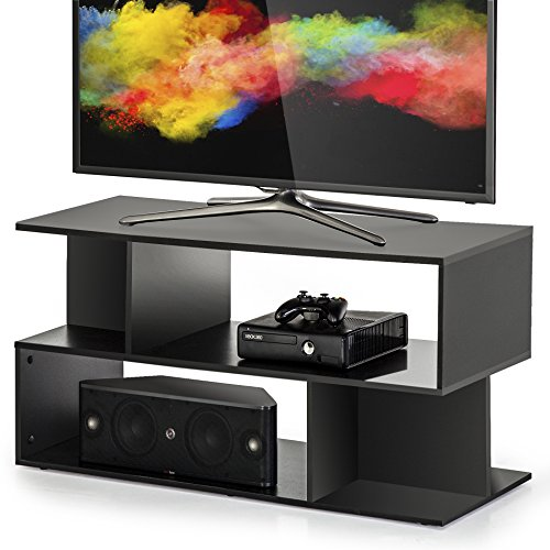 Homury Wood Coffee Table Media TV Stand Storage Console