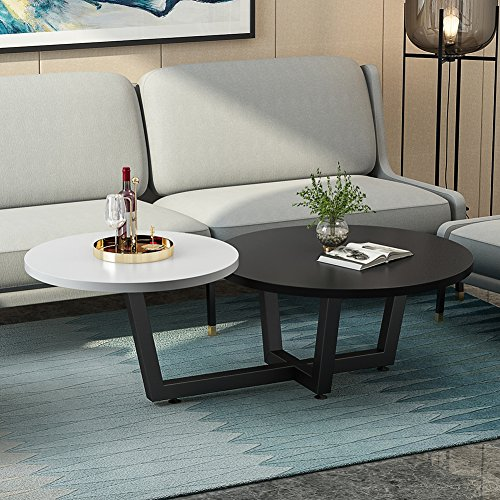 Genial Modern Double Coffee Table, LITTLE TREE 2 Tiered Round Sofa Table U0026 Simple  End Table