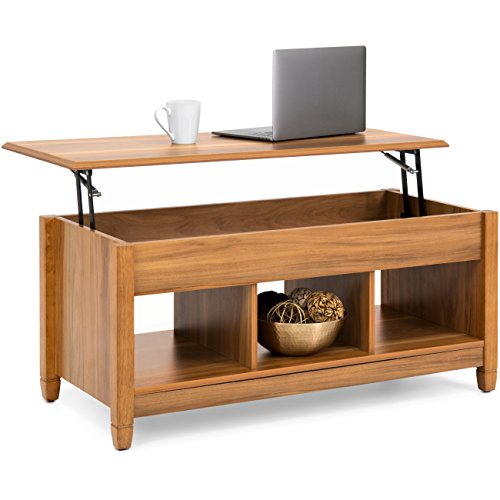 Lift Top Coffee Table With Hidden Storage Compartment: Rectangular Lift Top Coffee Table W/ Hidden Compartmen