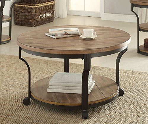Black Oak Round Coffee Table: 1PerfectChoice Geoff Round Oak Black Coffee Table Best