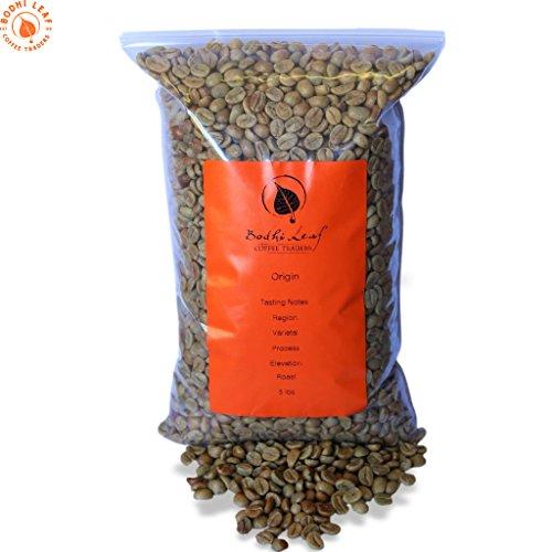 5 LBS Costa Rica Tarrazu Green Unroasted Coffee Beans - 100% Arabica Raw Caffeinated Coffee - Specialty Grade - Bulk Bag Size