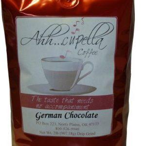 Ahh..Cupella Premium Gourmet German Chocolate Flavored Whole Bean Coffee, 32oz bag