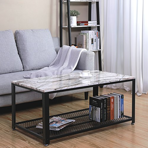 Cocktail Table Storage Shelf Living Room, Easy Assembly