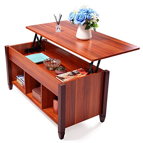Pallet Coffee Table With Hidden Storage: LAZYMOON Lift Top Coffee Table Laptop Desk Storage Compartment