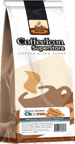 Coffeeicon Mexican Cinnamon Churros - 12Oz Whole Bean Bagged Coffee
