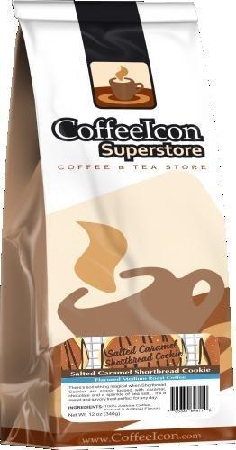 Coffeeicon Salted Caramel Shortbread - 12Oz Whole Bean Bagged Coffee