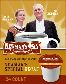 Keurig, Newman's Own Organics, Newman's Special Decaf, K-Cup Portion Packs