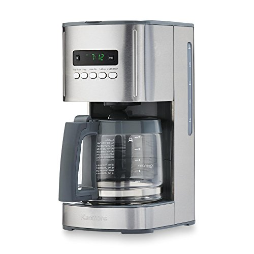 Kenmore 12-Cup Programmable Aroma Control Coffee Maker in Stainless Steel