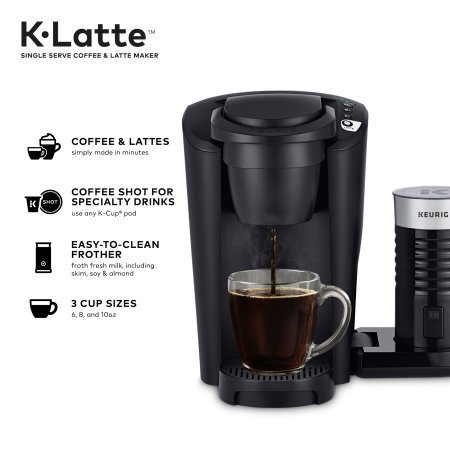 Keurig K Latte Single Serve K Cup Coffee And Latte Maker