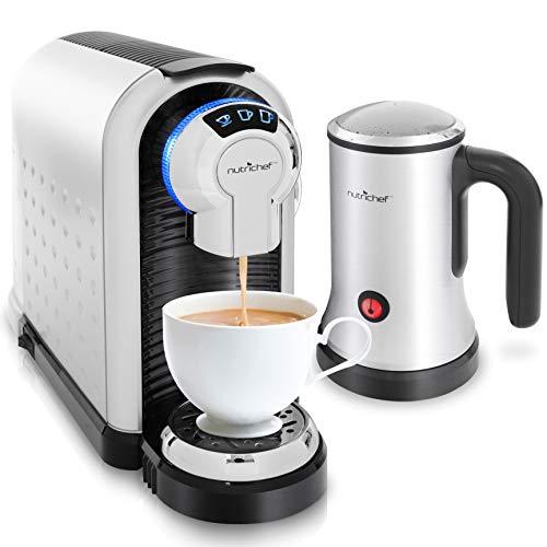 NutriChef Espresso Machine & Cappuccino Maker with Milk Frother