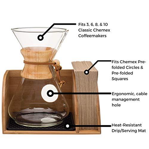 Chemex Coffee Maker Organizer With Silicone Mat Eco Friendl Sale Coffee Accessories Shop Buymorecoffee Com