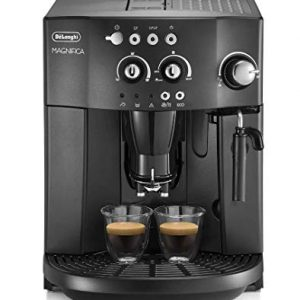 Espresso coffee machine with an adjustable grinder, milk frother