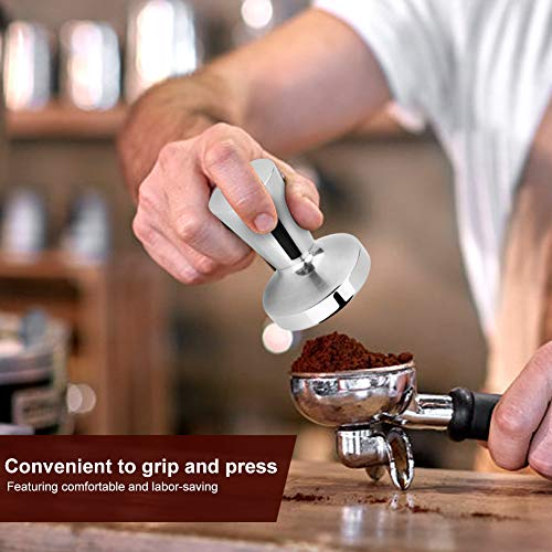 Barista Tool Coffee Tamper 40mm Flat Base Espresso Tamper Stainless Steel