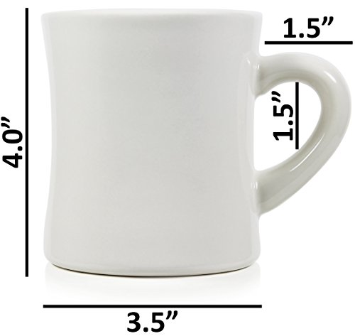 0e35c657221 Serami 11oz White Cream Diner Mugs for Coffee or Tea