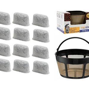 GoldTone Brand 8-12 Cup Basket Coffee Filter & Set of 12