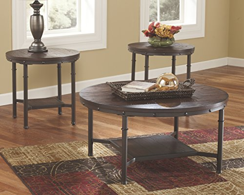 End Tables And Coffee Table 3 Piece Round Rustic Brown Sale Coffee Tables Shop Buymorecoffee Com