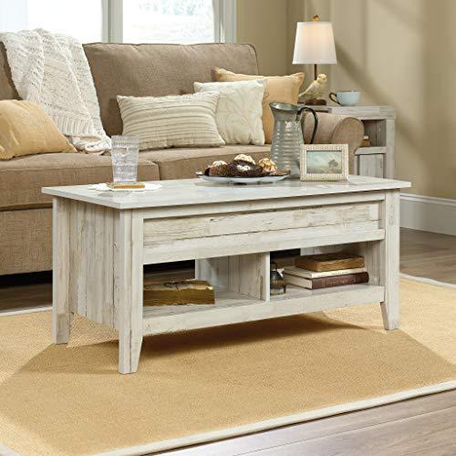 Brilliant Sauder Dakota Pass Lift Top Coffee Table White Plank Finish Ncnpc Chair Design For Home Ncnpcorg