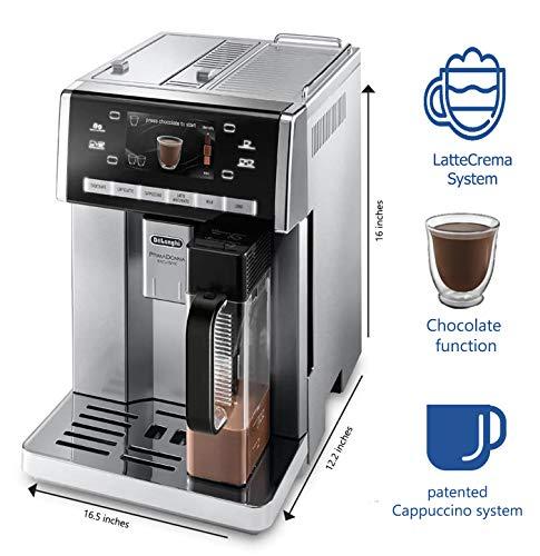 Delonghi super-automatic espresso coffee machine with ...