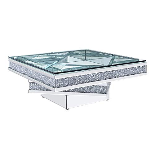 Coffee Table in Mirrored and Faux Diamonds