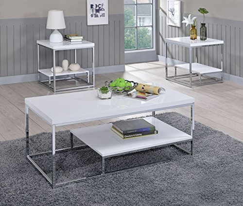 Steve Silver Company Lucia End Coffee Table White Sale Coffee Tables Shop Buymorecoffee Com