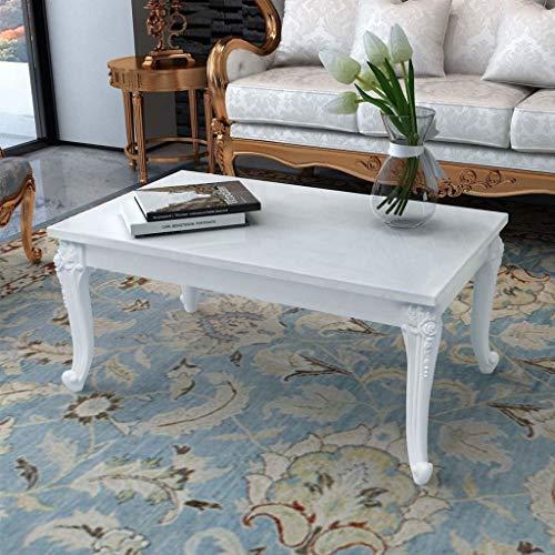 Vintage Style Coffee Table Elegant Solid Rectangular
