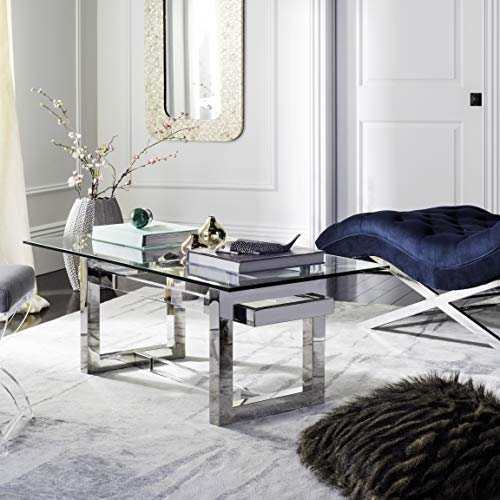 Safavieh Home Collection Montrelle Glass Coffee Table, Clear