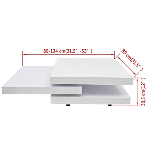 Coffee Table Extendable.Festnight 3 Layer Coffee Table Extendable High Gloss Sofa