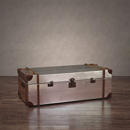 Commander Aluminum Storage Trunk Coffee Table review best | BuyMoreCoffee.com
