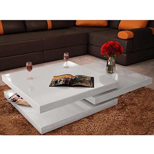 Amazing Festnight 3 Layer Coffee Table Extendable High Gloss Sofa Squirreltailoven Fun Painted Chair Ideas Images Squirreltailovenorg