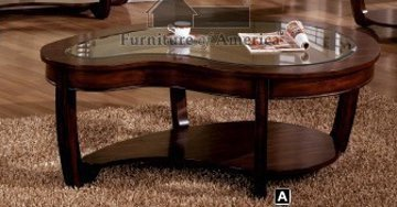 Furniture Of America Crystal Falls Dark Cherry Coffee Tables